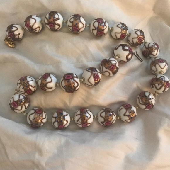 Jewelry Vintage Venetian Murano Glass Bead Necklace Poshmark
